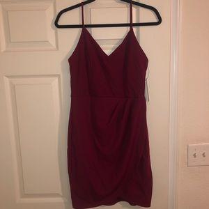 Lulu's faux-wrap dress
